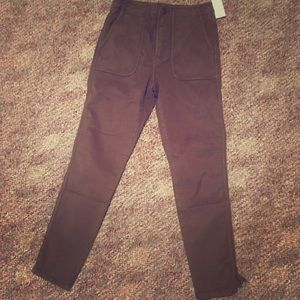 Joie brown high waisted pants